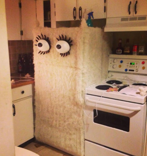 Fridge has eyes