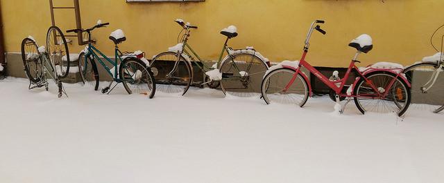 Велосипеди, зима