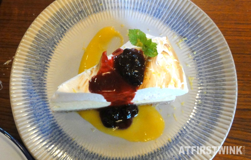 Jamie's Italian Markthal Amalfi Lemon meringue cheesecake above