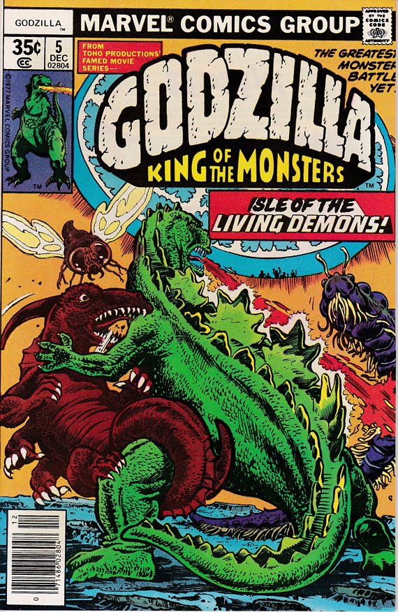 Godzilla #5 December 1977 Marvel Comics Grade NM