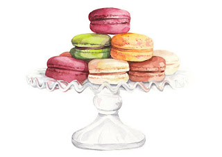 watercolour, food, illustration, illustrator, freelance, uk, london, england, macarons, colours, art, watercolor, drawing, painting, anastasiya, levashova, kava, book, publishing, magazine, editorial, beautiful,