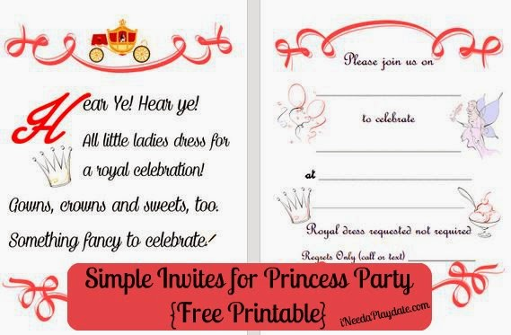 The Simplest Ways to Make the Best Princess Party invite printables
