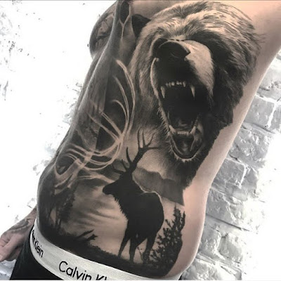 full body bear tattoo