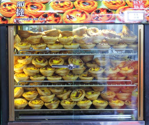 The famous egg tarts of Macau