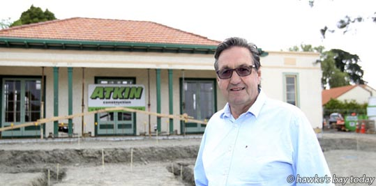 Havelock North businessman Andy Coltart is appealing to Havelock North residents to raise the final $40,000 towards relocating the old cricket pavilion to the new Havelock North Village Green photograph