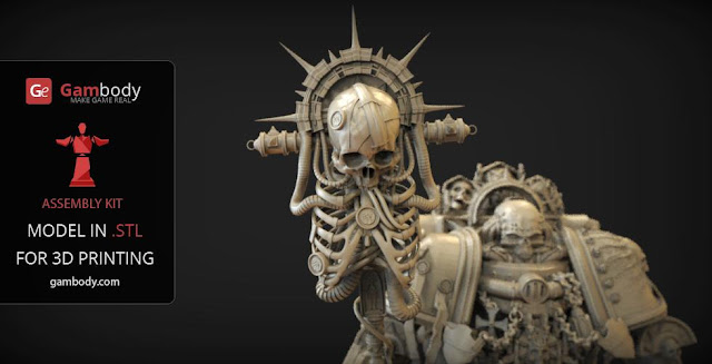Chaplain Warhammer40k 3D prints
