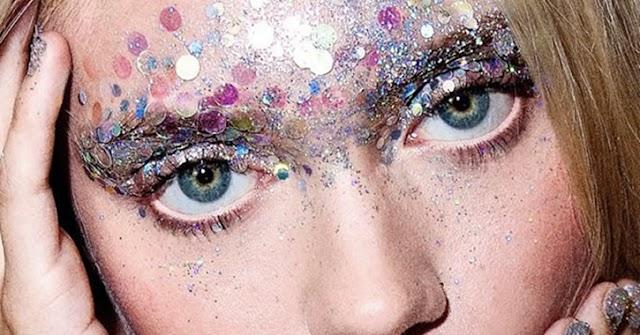 Glitter, um perigo para os olhos