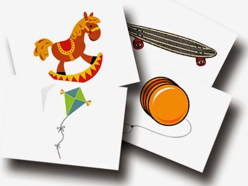 DaZ Material für die Sprachförderung in der Grundschule kostenlos - Bildkarten Spielzeug