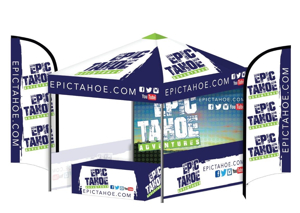Pop Up Custom Tents with Graphics and More