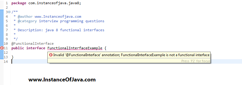 functional interface example in java 8