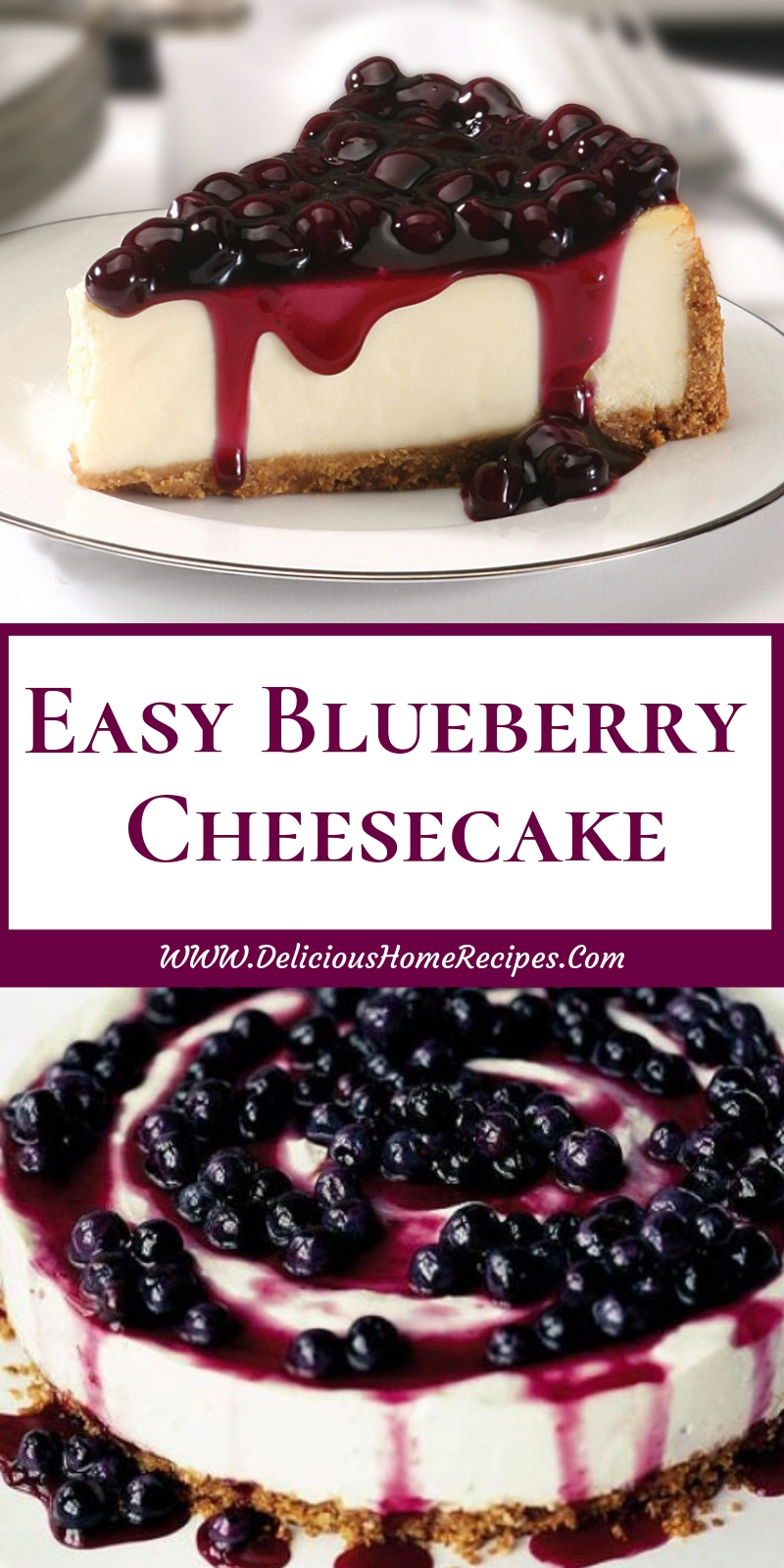 Easy Blueberry Cheesecake