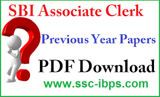 SBI Clerk Previous Year Question Paper PDF Download