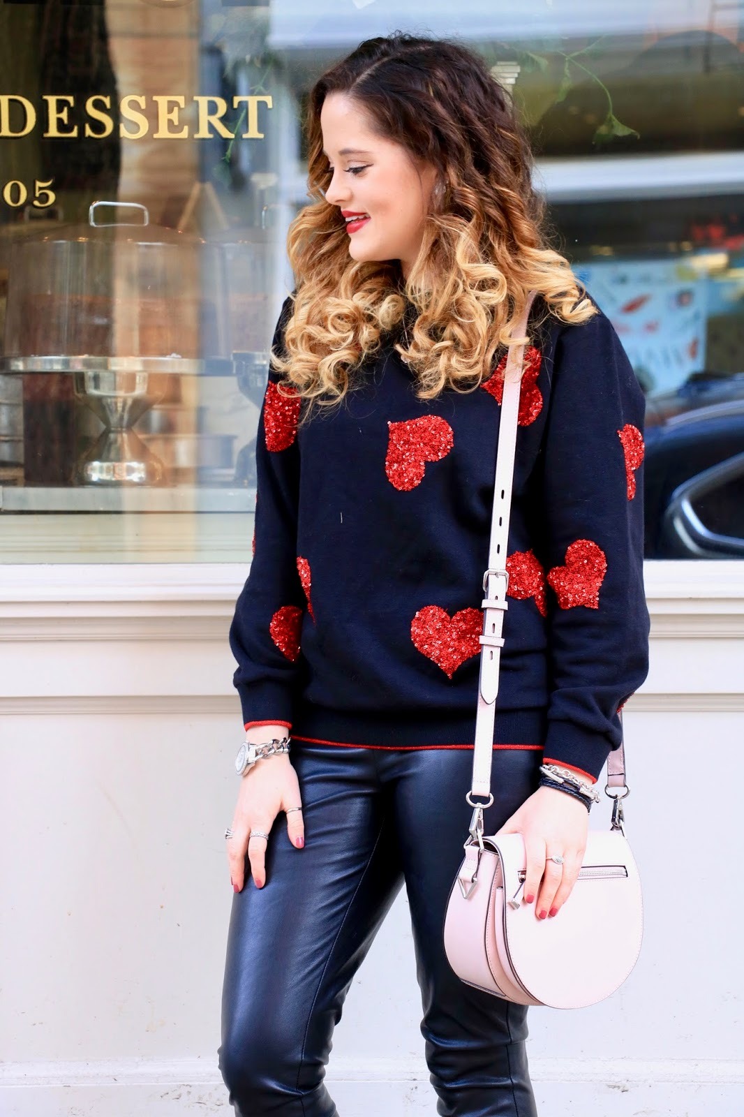 Nyc fashion blogger Kathleen Harper's casual Valentine's Day outfit