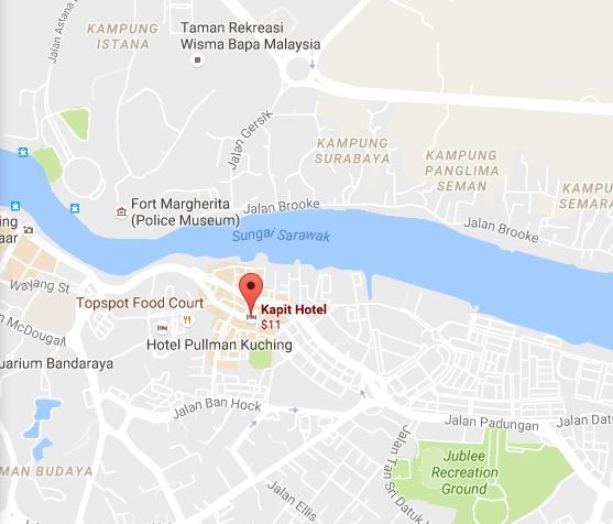 lokasi kapit hotel kuching