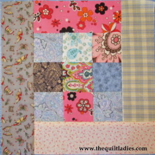 simple log cabin quilt