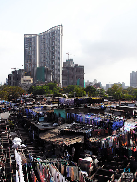 Dhobi Ghat, which is an open air laundromat in Mumbai, India