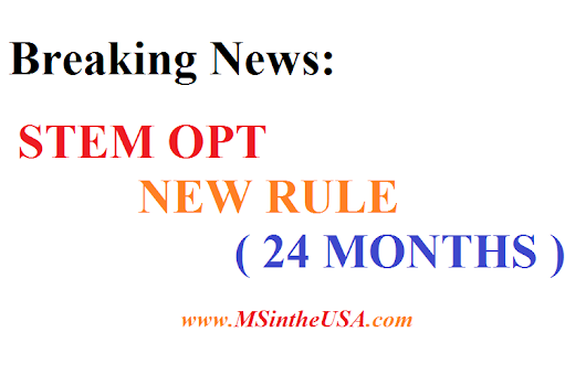 BREAKING NEWS STEM OPT NEW RULE 24 MONTHS