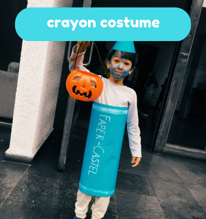 Practical Mom Halloween: DIY Crayon Costume