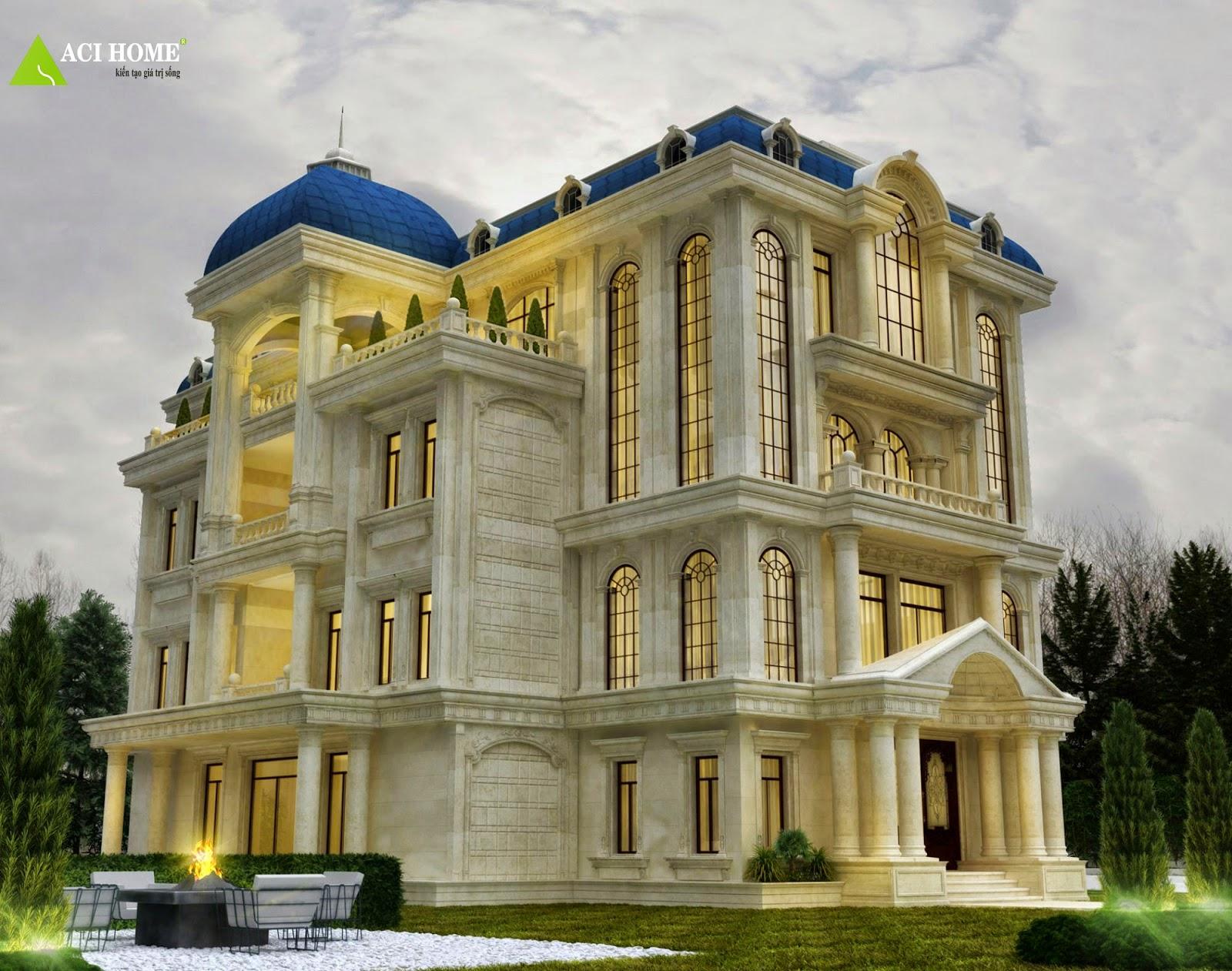 Kiến trúc biệt thự đẹp kiểu lâu đài