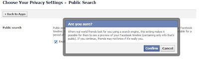 How to disable public search on Facebook