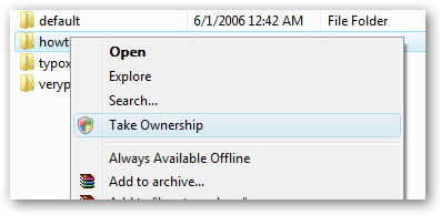 Take ownershipp of all files in windows