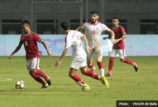 Tumnas Indonesia U-23 Kalah 2-3 dari Suriah U-23