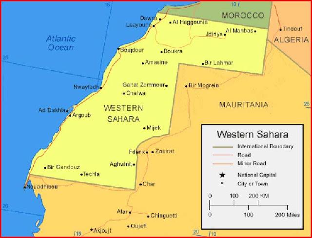 Gambar Peta Sahara Barat