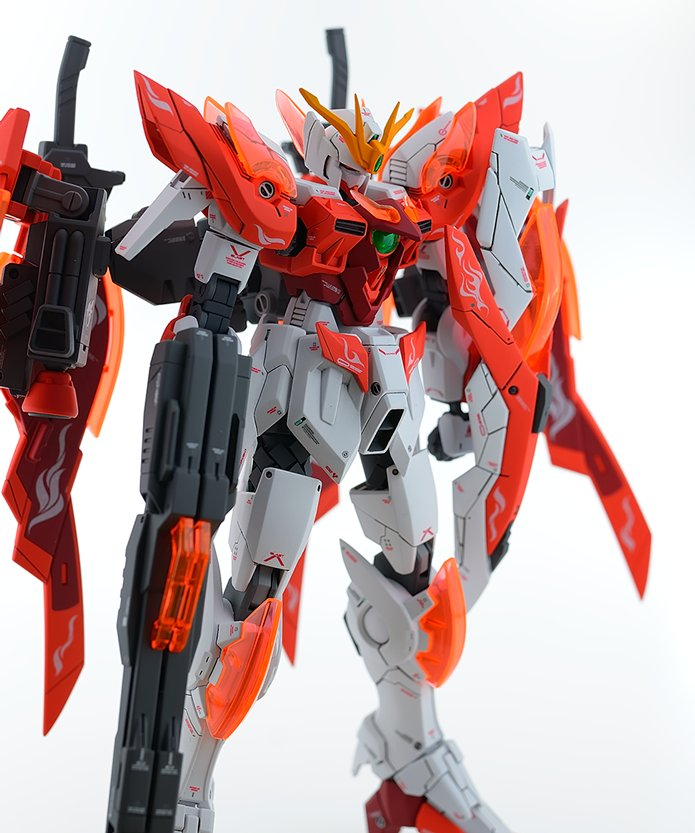 HG 1/144 Wing Gundam Zero Honoo - Customized Build