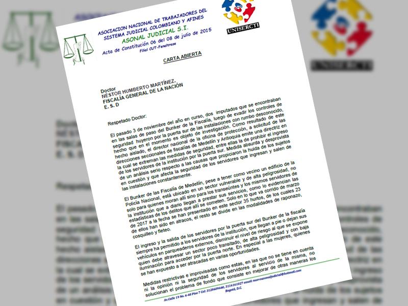 Carta abierta: Seguridad Búnker.