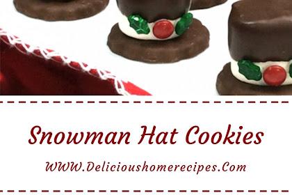 Snowman Hat Cookies #christmas #cookies