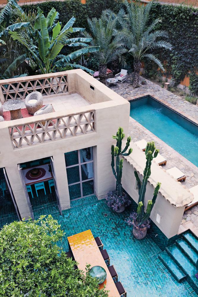 Beautiful plants and outdoor space in Taroudant, Morocco/ designaddictmom