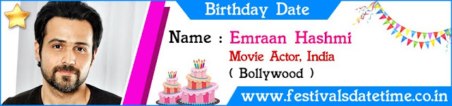 Emraan Hashmi Birthday Date