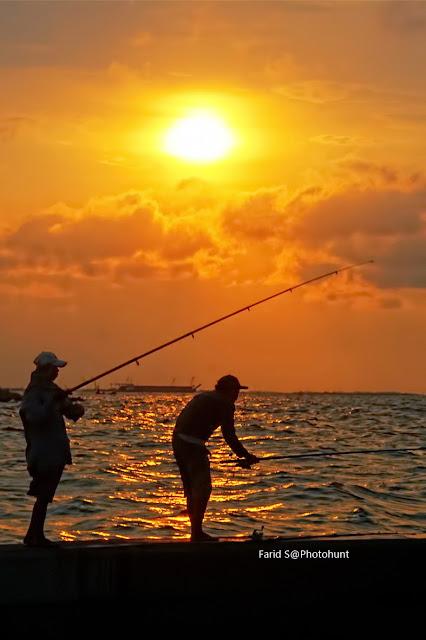 foto laut, foto Jakarta, foto pelabuhan, Muara Baru, foto sunset