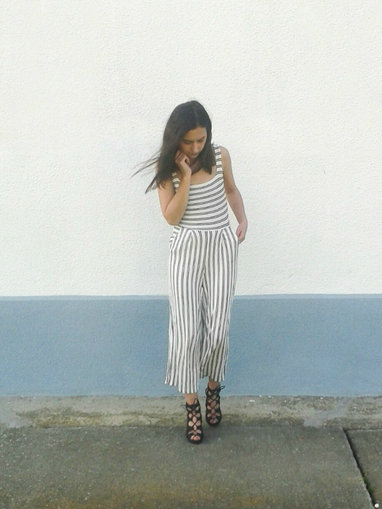 fashion with valentina blog,fashion blogger valentina batrac,teen croatian fashion bloggers,hrvatske fashion blogerice,spring summer 2016 outfits,outfit ideas for spring,striped culotte jumpsuit,how to wear culotte jumpsuit in spring,bershka culotte jumpsuit