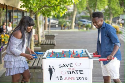 Onazi Ogenyi and Sandra Ogunsuyi's pre-wedding shoot