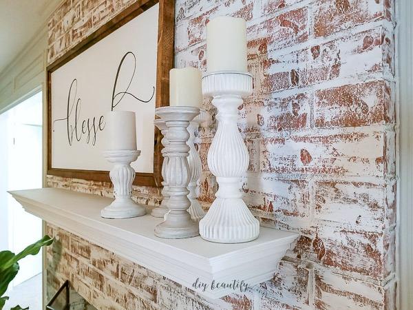 Using Chalk Paint To Update A Brick Fireplace Diy Beautify