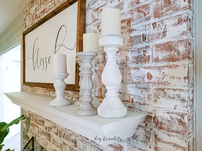 Painted brick fireplace, quick and easy | diybeautify.com
