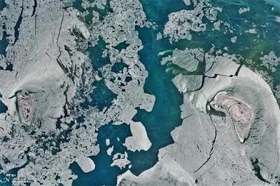 Garis-garis Misterius Muncul di Laut Kaspia