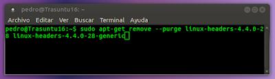 sudo apt-get remove --purge linux-headers-4.4.0-28 linux-headers-4.4.0-28-generic