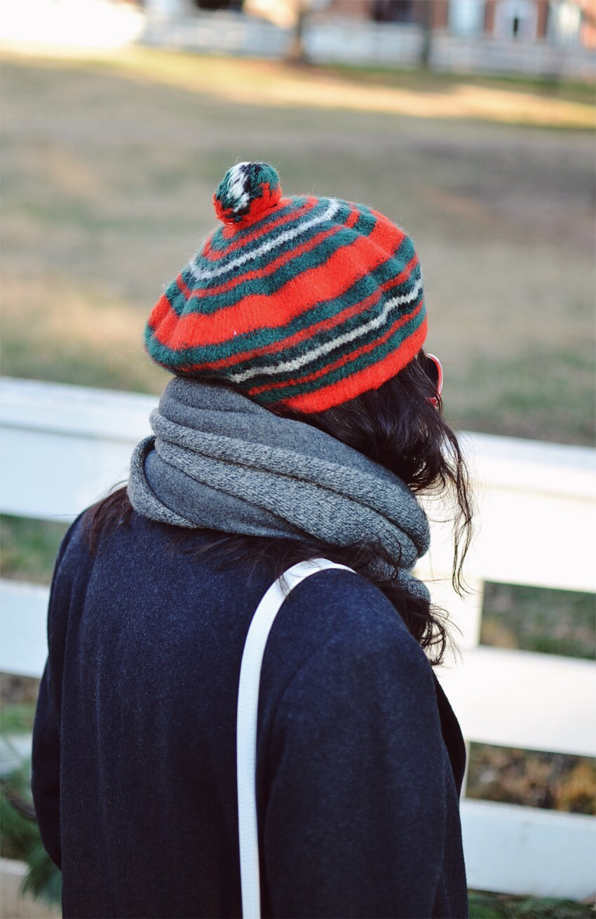 Colorful beret street style