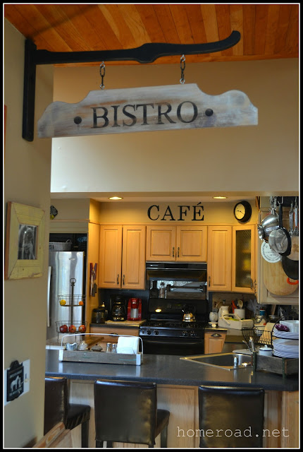 Hanging Bistro Sign www.homeroad.net