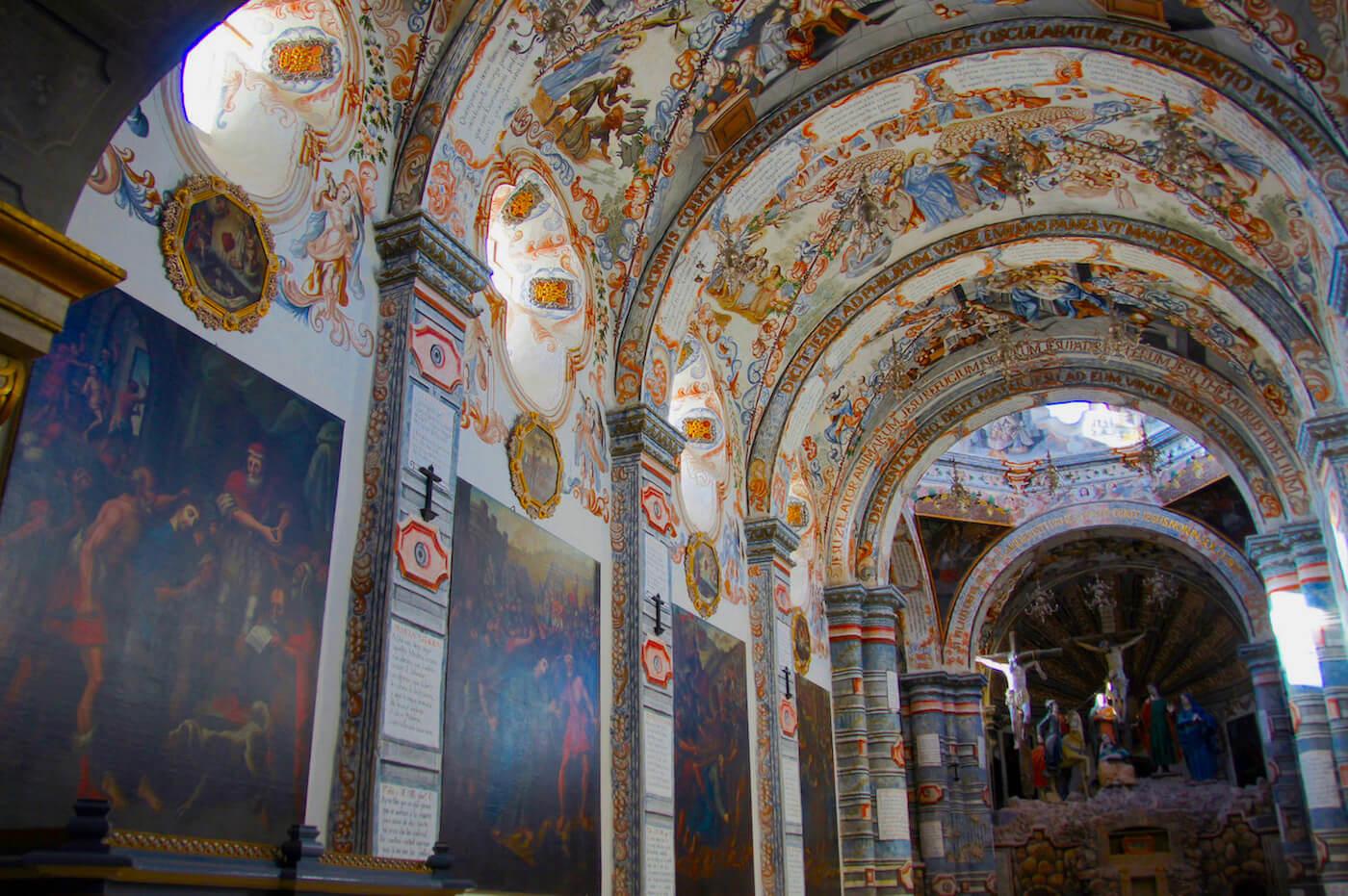 atotonilco inside beautiful mural