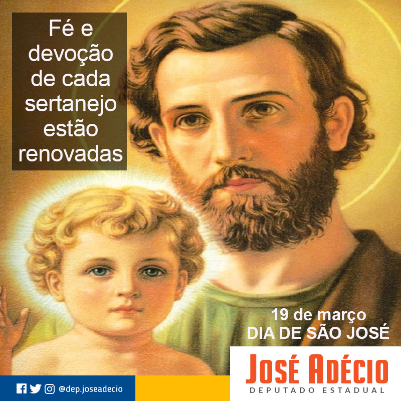Resultado de imagem para Homenagem do Deputado José Adécio a São José