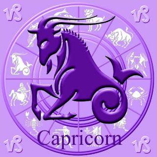 Leyendas sobre los signos. Imagen de Capricornio en el reloj del zodíaco, con el símbolo del signo