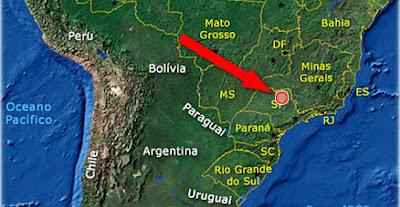 vulcão escondido no Estado de São Paulo