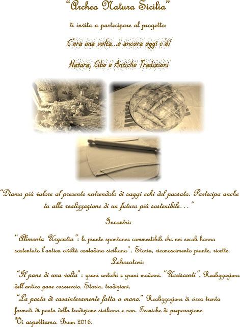 C'era una volta e ancora oggi c'è! I corsi su natura, cibo e antiche tradizioni di Archeo Natura Sicilia