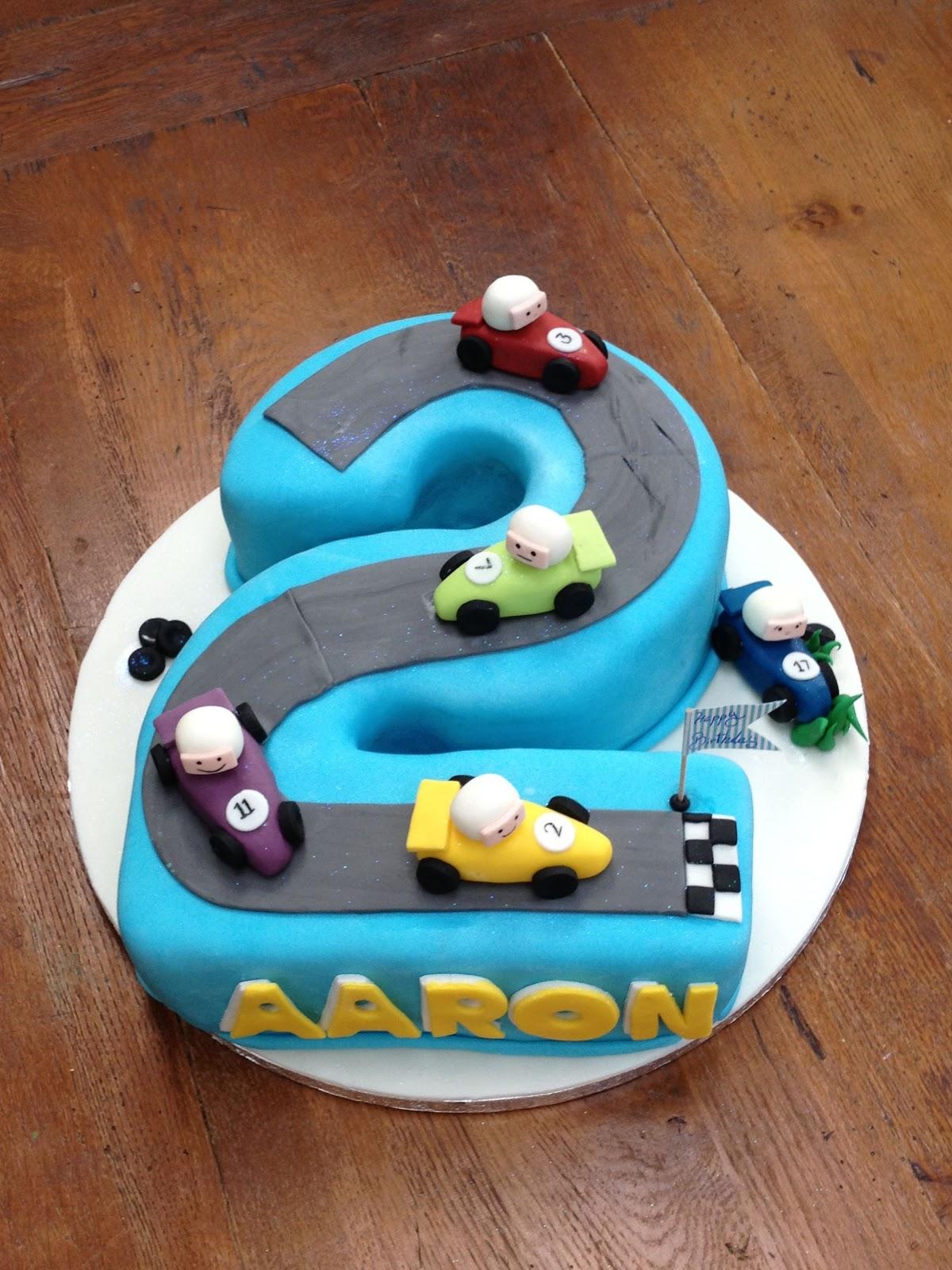 Sweet Aaron 2nd Birthday Cake