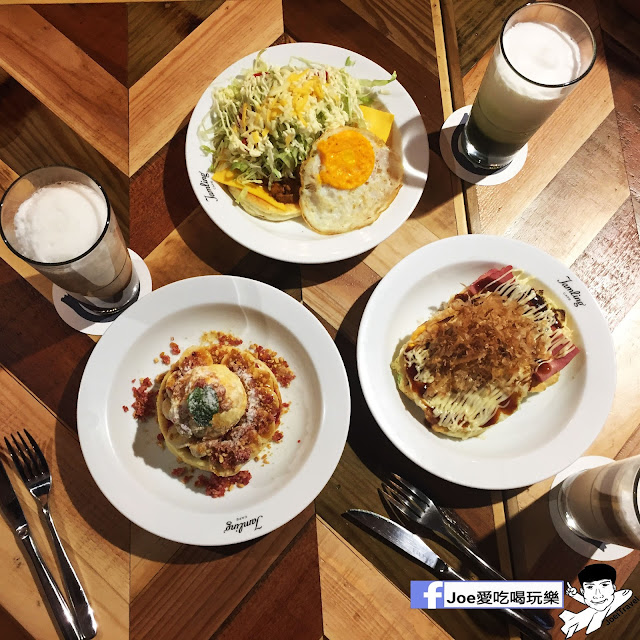 IMG 0328 - 【台中甜點】jamling Cafe 台中 - 來自東京鬆鬆軟軟入口即化的鬆餅 貓王鬆餅 吃起來有花生的甜 培根的鹹 ~一整個超級特別!!