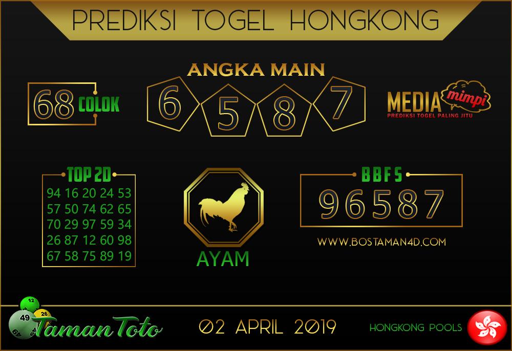 Prediksi Togel HONGKONG TAMAN TOTO 02 APRIL 2019