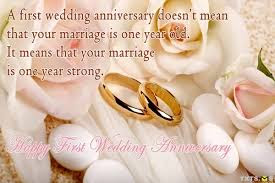 1st Wedding Anniversary Poems With Quotes